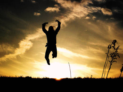 jumping over the sun.
