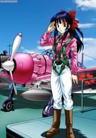 Sakura and Mitsubishi A6M Zero by bbmbbf
