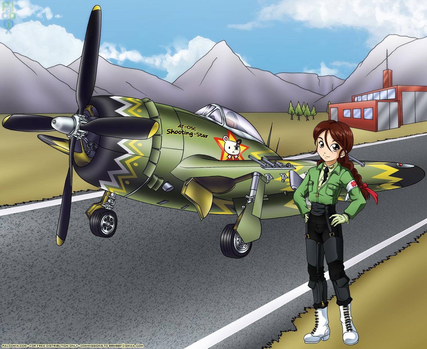 Rikkarita y P-47 by bbmbbf