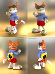 Blinx the Cat - 3d model by bbmbbf