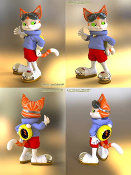 Blinx the Cat - 3d model