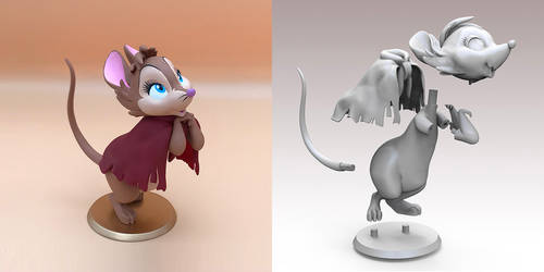 Mrs. Brisby - 3d printable model by bbmbbf