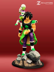 Broly Diorama - 3d model and Garage kit available