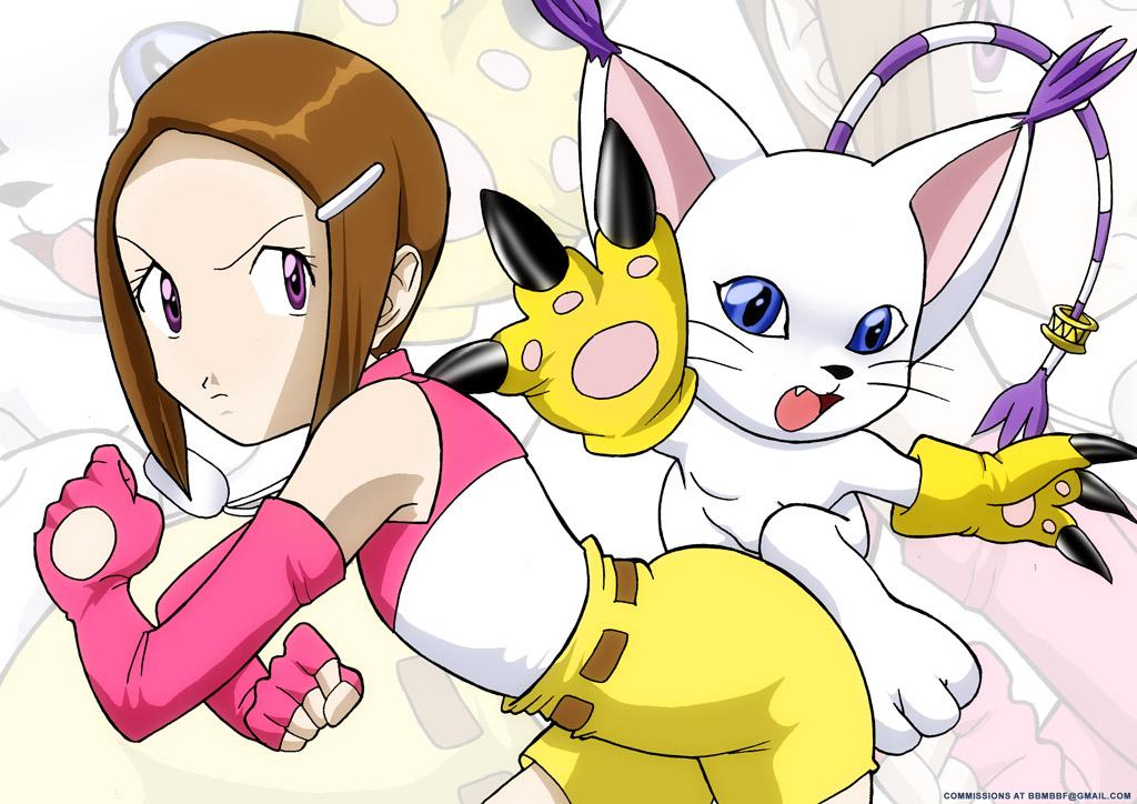Ficha de Selina Digimon___Kari_and_Gato_by_bbmbbf
