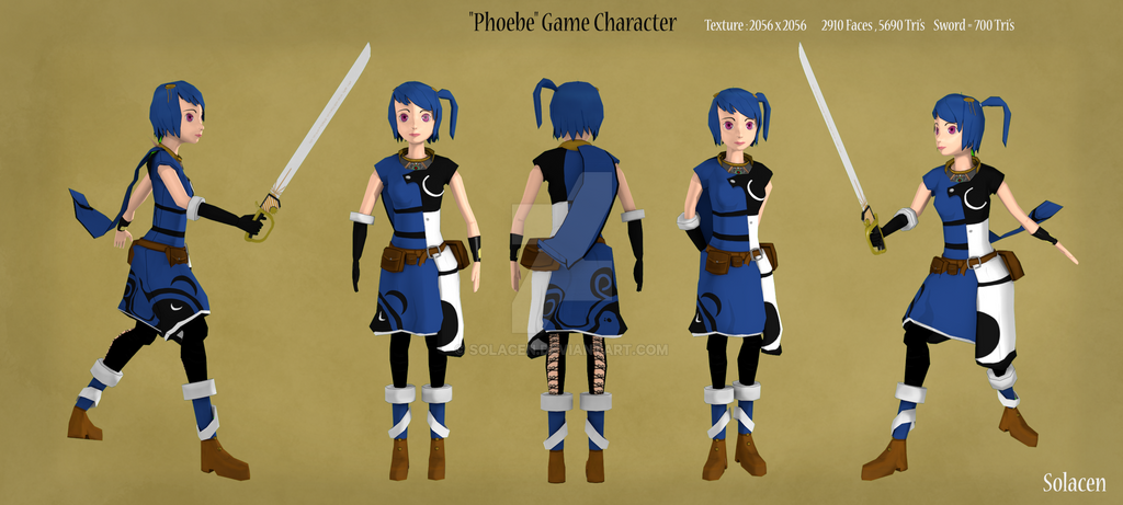 Phoebe Game Character by Solacen