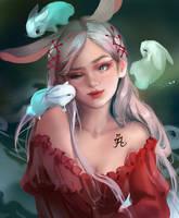 Chinese Zodiac: Rabbit by Jyundee