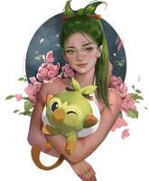 Grookey Fanart by Jyundee