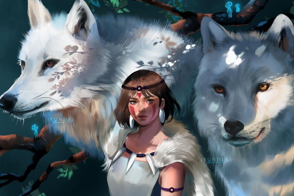 Fanart: San from Princess Mononoke by Jyundee