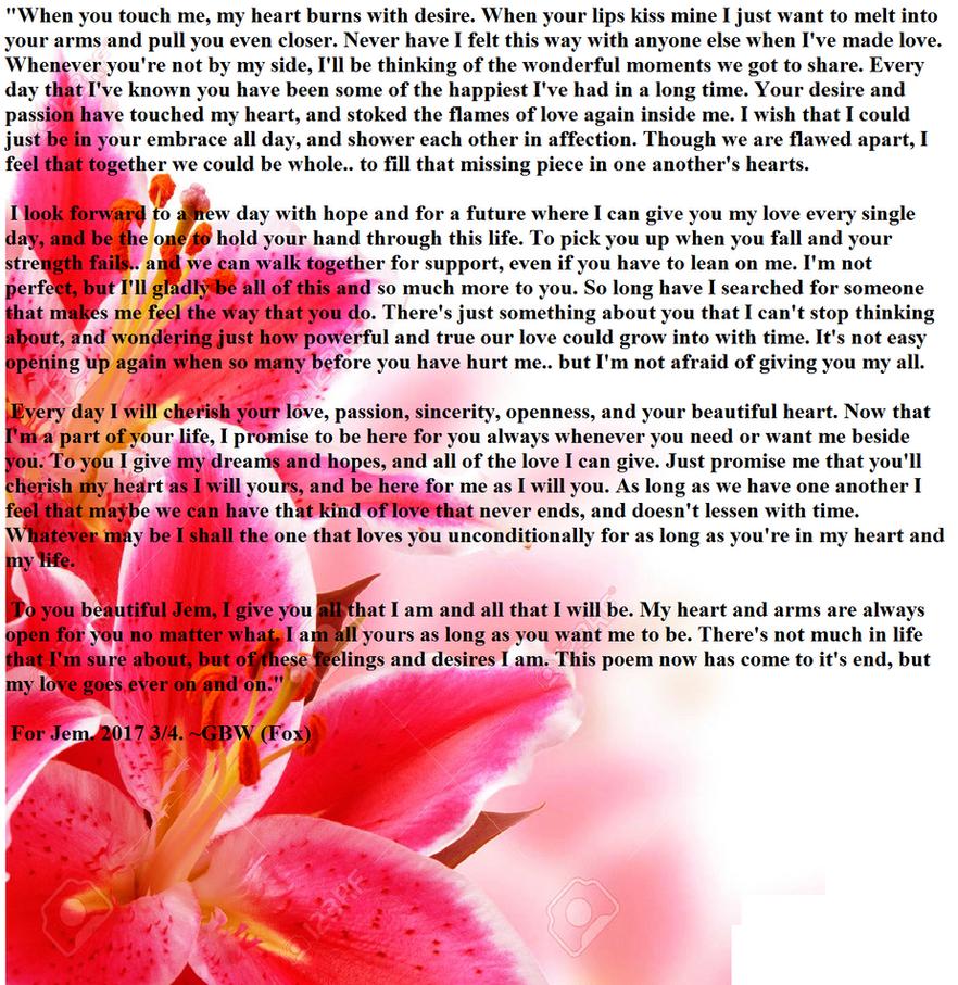 Poem for Jem by ShadowFox420