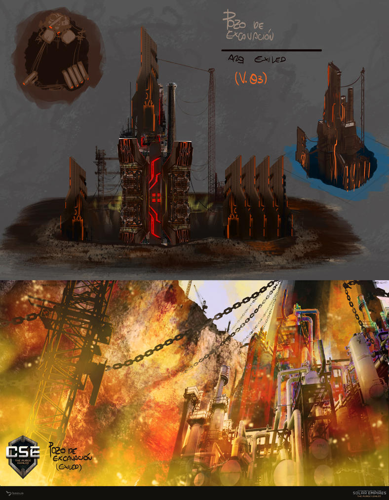 excavation pit concept art by bacusstudios on deviantart