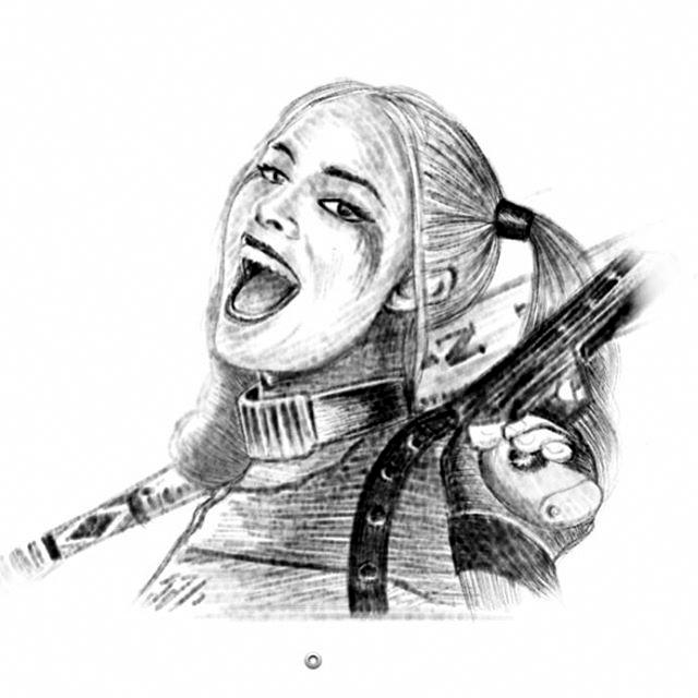 Harley Quinn (galaxynote sketch) by twistedrhye