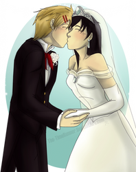You May Kiss the Bride~ (Commission) by The-TimeRunner
