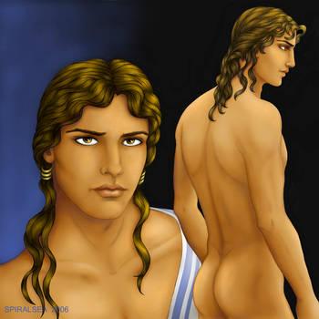 Portrait of Antinous by SpiralSea17