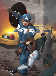 Capitain America the winter soldier  FAN ART by JAGRASSI