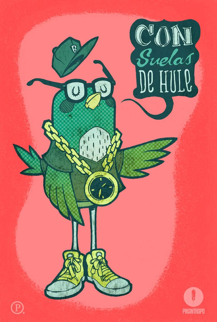 Pajaro con suelas de hule by 3lpiK