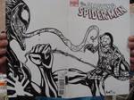 Spider-man Vs. Venom Sketch Cover by amtaylor12