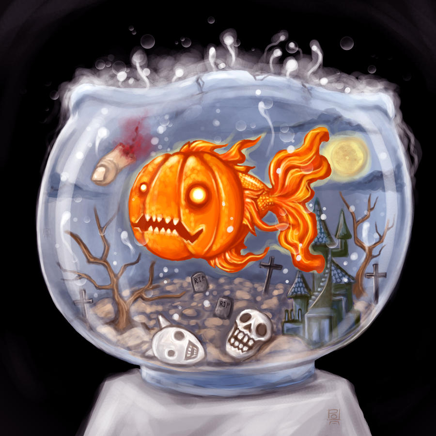 Halloween Goldfish by polawat