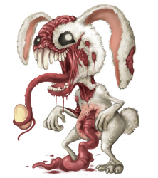 Easter Bunny Zombie by polawat
