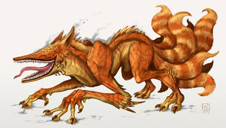 Demon fox by polawat