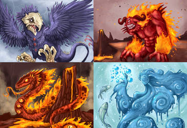 Card game monsters by polawat