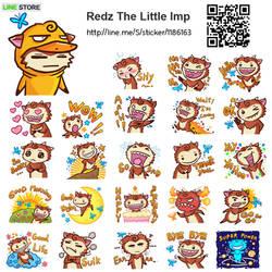 LINE sticker : Redz the Little Imp