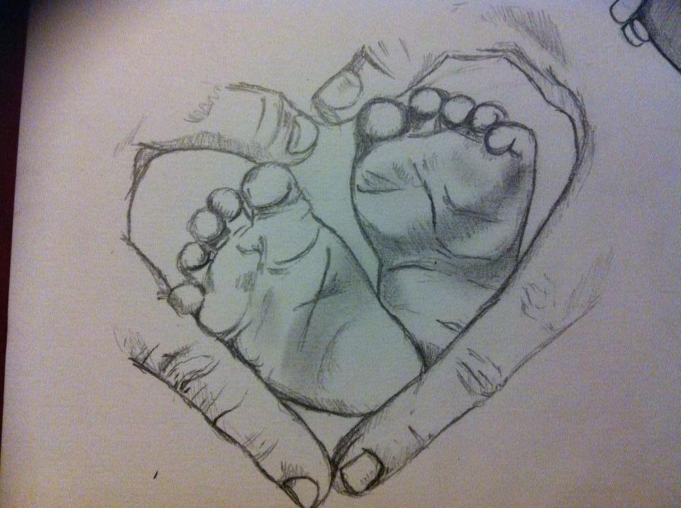 how to draw a set of footprints in sketches