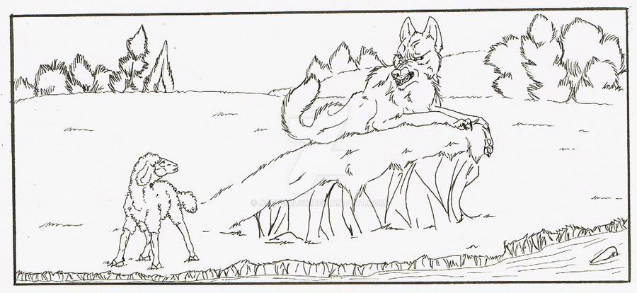 Dessin de loup et d agneau - Dessin loup et agneau ...