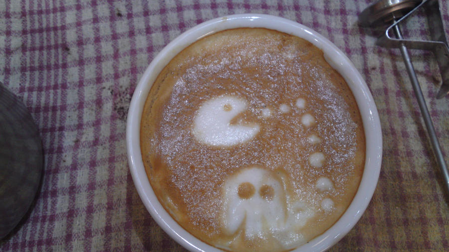 Latte Art: Pac man by Evil-elz