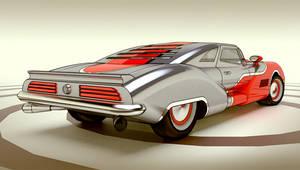 V8 rear view
