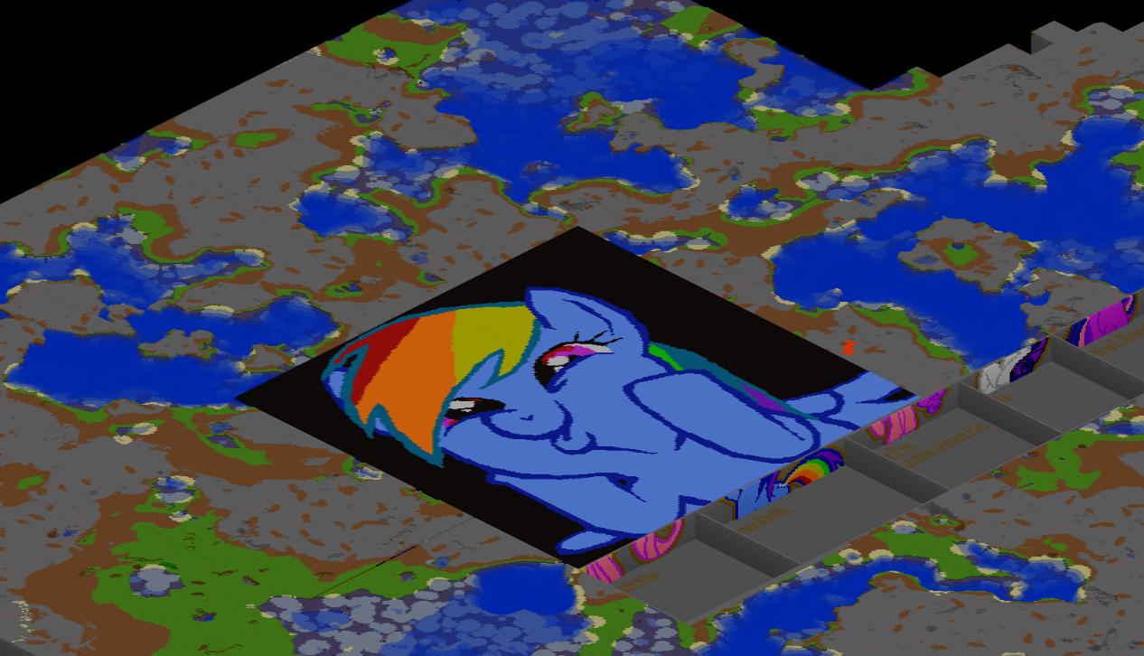 ... Rainbow Dash Giant Pixel Art Map By Gabe R