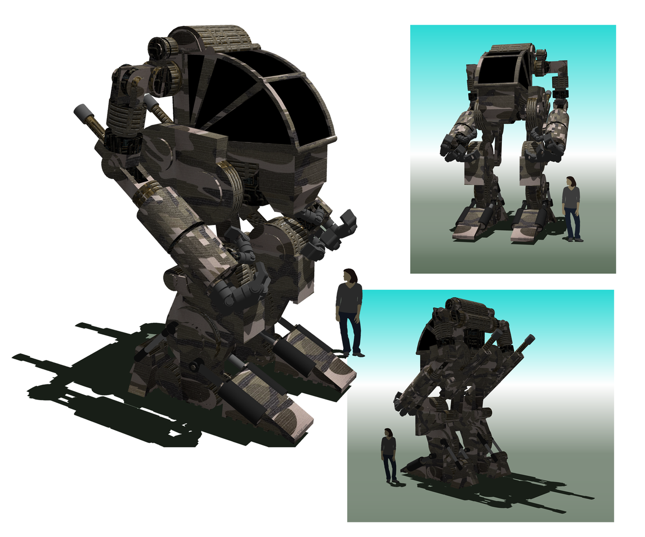 Military Exosuit by orcbruto on DeviantArt Military Exosuit