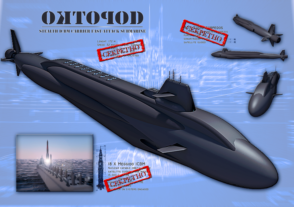 Oktopod Tactical Submarine by orcbruto
