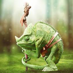 Lizard man by OmarJason