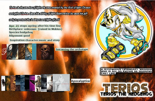 Terios the Hedgehog info
