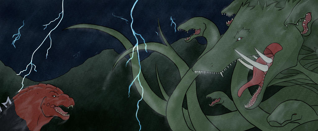 Godzilla vs biollante Color by Volador-N7