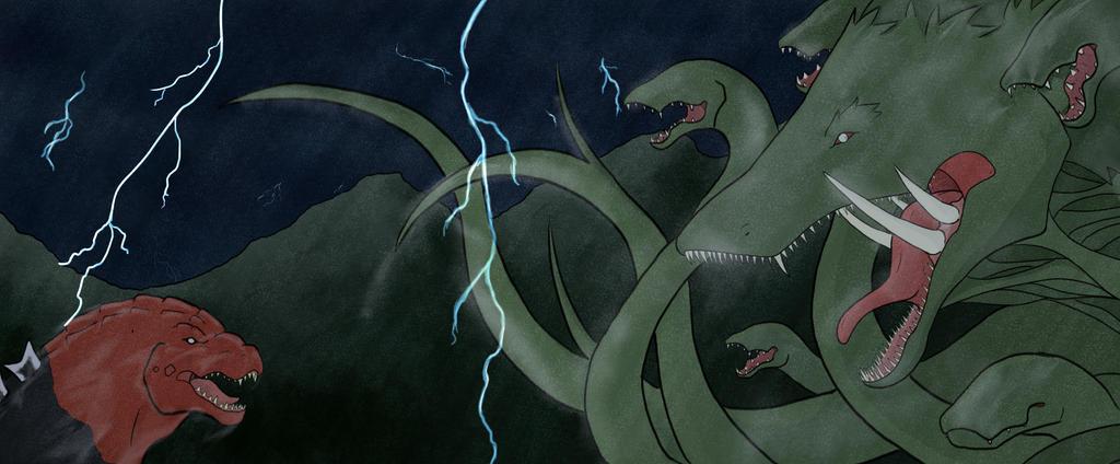Godzilla vs biollante Color by Volador-N7