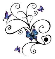 Butterflies tattoo design by J35K