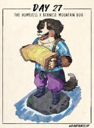 Inktober Day 27: The homess x bernese mountain dog