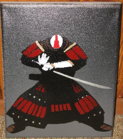 Samurai Stencil by Lovecommamachine