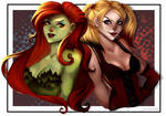 [Commission] Poison Ivy and Harley Quinn