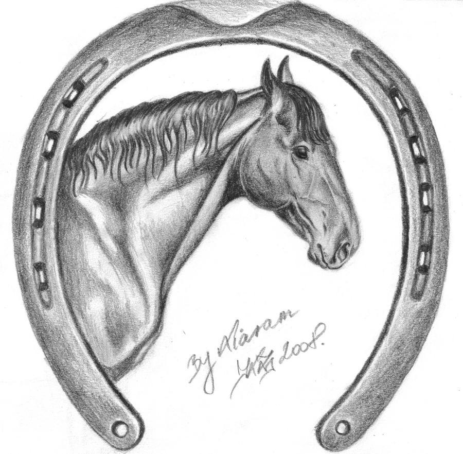 horseshoe drawing - photo #4