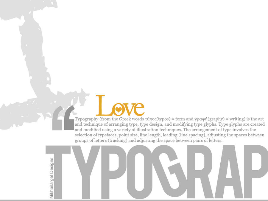 I Love Typography By Mikhailargel On Deviantart