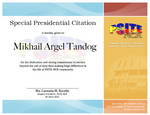 Special Presidential Citation Certificate 1