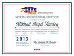 Special Presidential Citation Certificate 2