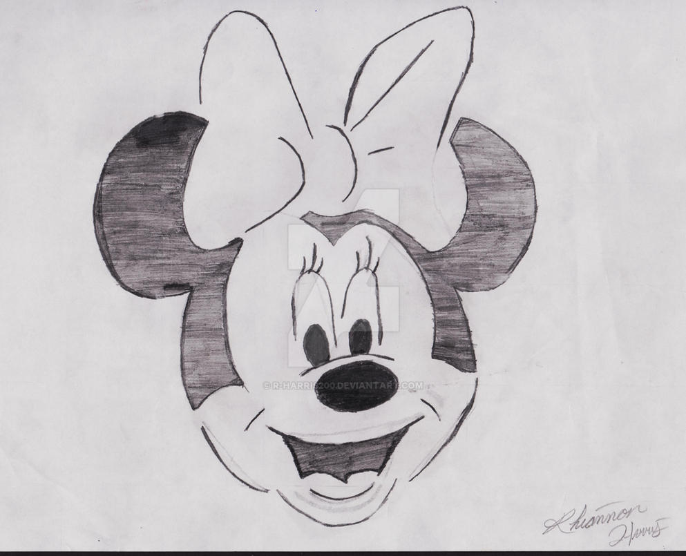 Minnie Mouse by R-Harris200 Pencil Drawings Of Minnie Mouse