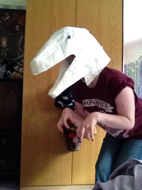 Jurassic world raptor cosplay mask under layer by NightingaleCosplay