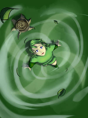 Saria the Airbender by BlissInOblivion