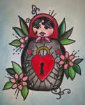 Traditional tattoo 'Russian Doll'