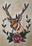 Traditional tattoo ' Deer '