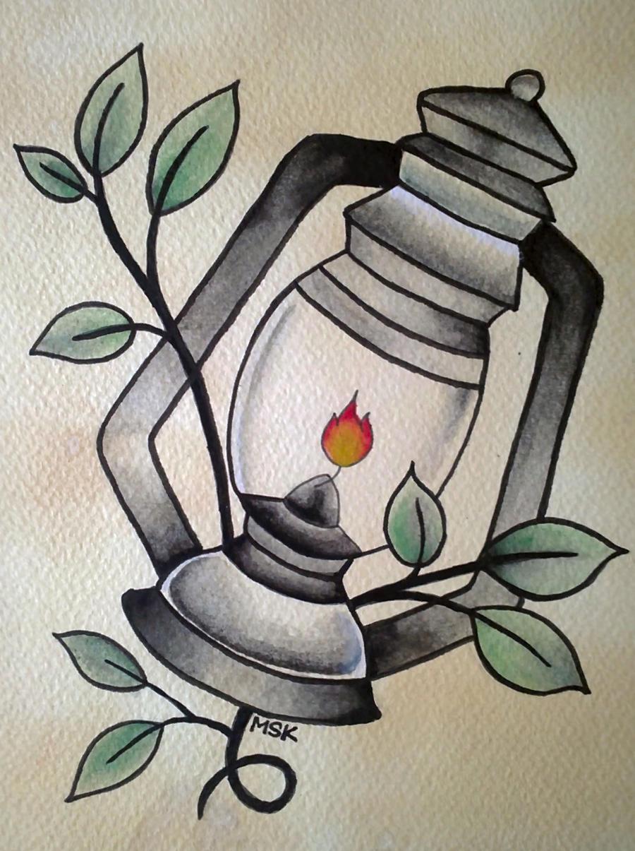 Traditional tattoo ' Lantern ' by Psychoead on DeviantArt
